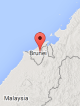 General map of Brunei