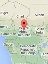 General map of Central African Republic