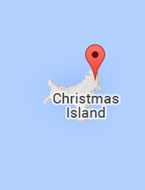 General map of Christmas Island