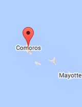 General map of Comoros