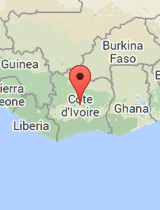 General map of Côte d'Ivoire