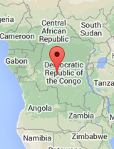 General map of Democratic Republic of the Congo