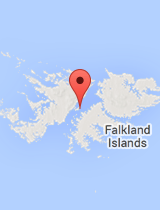 General map of Falkland Islands
