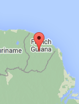 General map of French Guiana