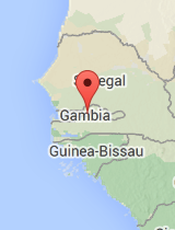 General map of Gambia