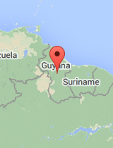 General map of Guyana