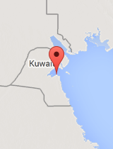 General map of Kuwait