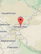 General map of Kyrgyzstan