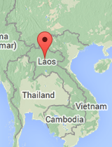 General map of Laos