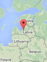 General map of Latvia