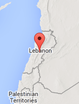 General map of Lebanon