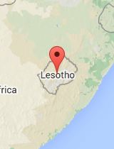 General map of Lesotho