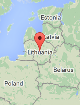 General map of Lithuania