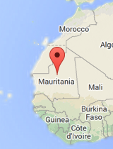 General map of Mauritania
