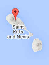 General map of Saint Kitts and Nevis