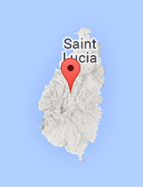 General map of Saint Lucia