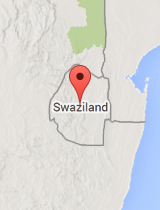 General map of Swaziland