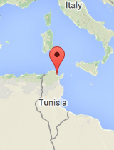 General map of Tunisia